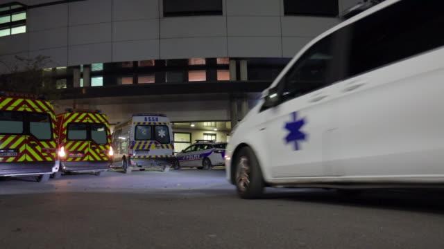 vidéos et rushes de hospital emergencies on november 27, 2019 in montreuil, france. - ambulance