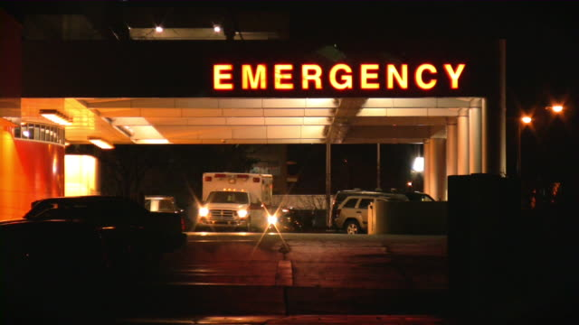 hospital, emergency room. ambulance. - accidents and disasters stock videos & royalty-free footage