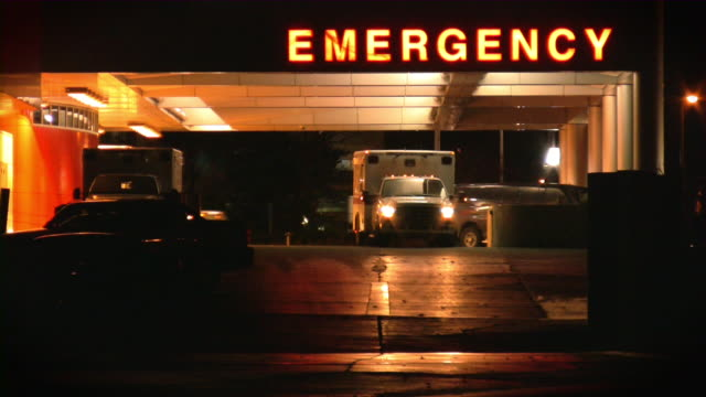 hospital, emergency room. ambulance. - ambulance stock videos & royalty-free footage