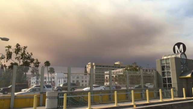 hospital emergency sign for ground, smog the air quality background. smoke clouds hanging over griffith park looking north east across loss angeles... - smog stock videos & royalty-free footage