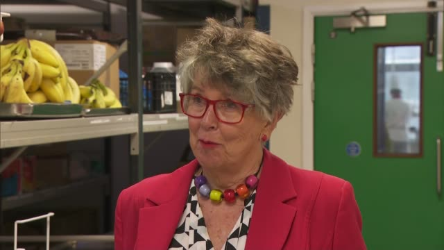 prue leith interview; england: berkshire: reading: royal berkshire hospital: int prue leith interview sot - prudence leith stock videos & royalty-free footage