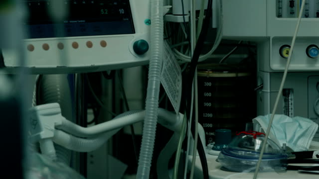 hospital. intensive care unit - respiratory machine stock videos & royalty-free footage