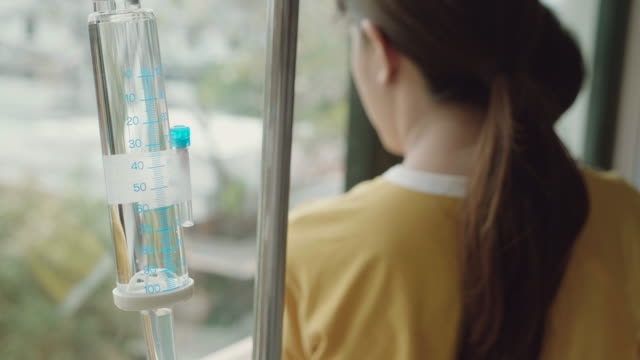 Hospital Patient with IV drip