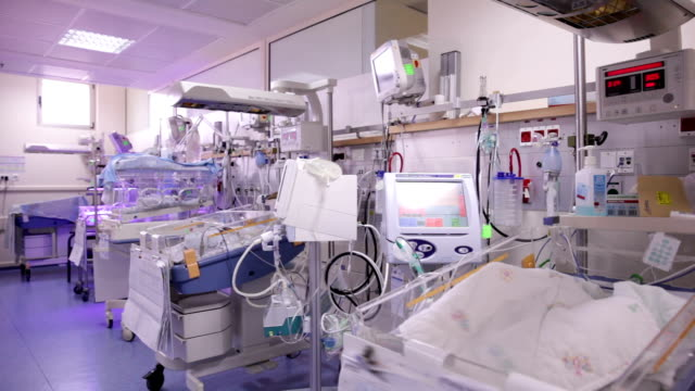 hospital ward for prematurely born infants - nursery bedroom stock videos & royalty-free footage