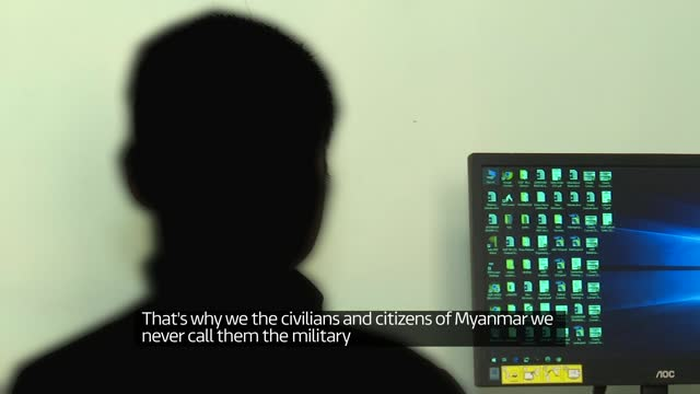 hospitals in india offering sanctuary for casualties of military crackdown in myanmar; india: int anonymous man interview sot ext air view shot of... - war and conflict stock-videos und b-roll-filmmaterial