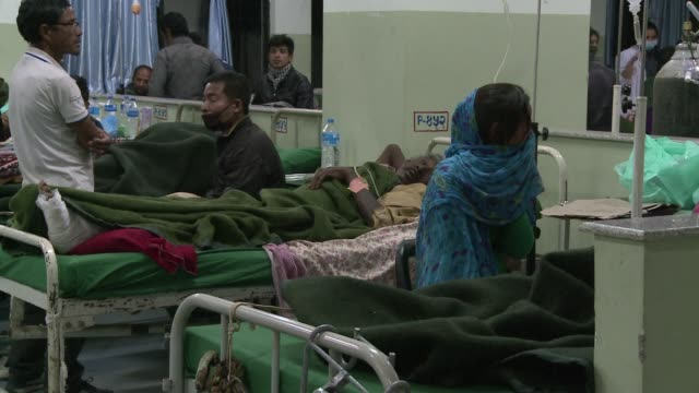 hospitals in nepal were still overwhelmed on tuesday with medics working flat out to cope with an endless stream of victims suffering trauma or... - kathmandu stock videos & royalty-free footage