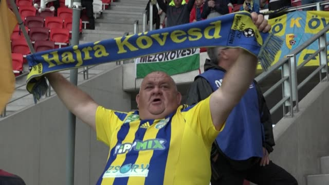 host mezokovesd in a hungarian first division football match, the first in europe to allow fans into the stadium since the coronavirus outbreak saw... - traditionally hungarian stock videos & royalty-free footage