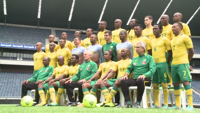hosts south africa play morocco on sunday where a draw would be enough to see them qualify for the quarter finals of the africa cup of nations clean... - quarterfinal round stock videos & royalty-free footage
