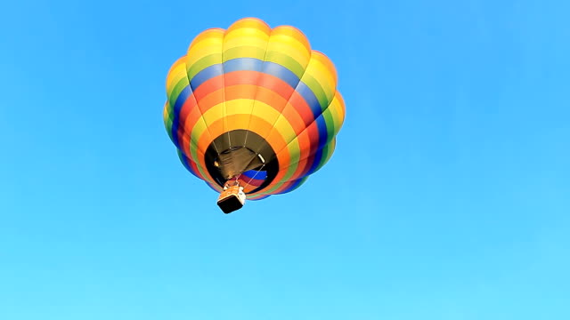 hot air balloon flying - medium shot stock videos & royalty-free footage