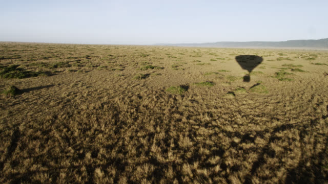 POV Hot air balloon over savannah, Kenya