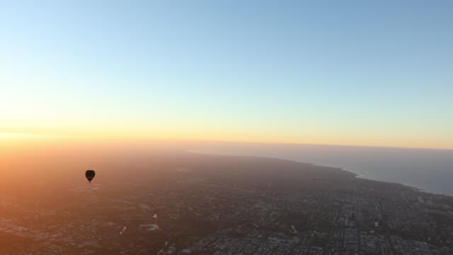 Hot air balloon ride above Melbourne, Australia