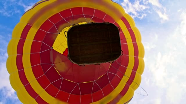 slo mo hot air balloon taking off - hot air balloon stock videos & royalty-free footage