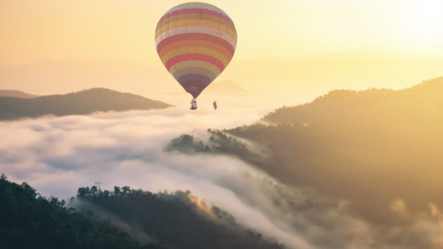 hot air balloon - thailand stock videos & royalty-free footage