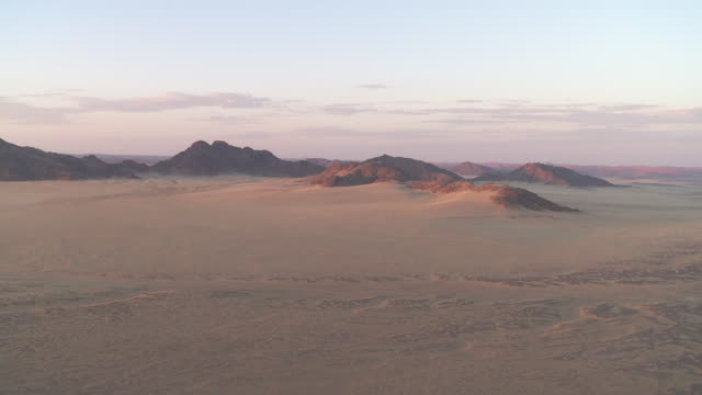 Hot air ballooning - Aerial view of desert dunes