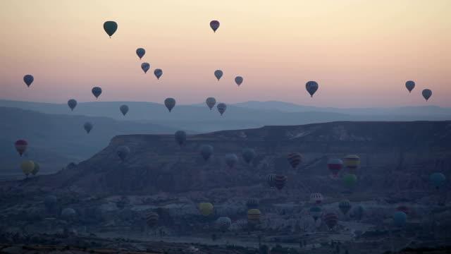 Balões de ar quente, a Turquia Cappadocia