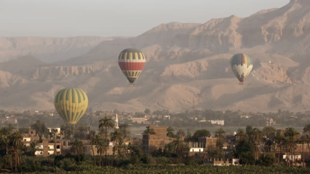 hot air balloons, luxor, egypt - luxor thebes stock videos and b-roll footage