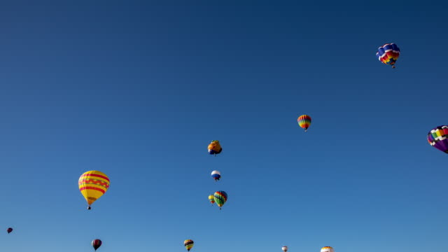 Hot Air Balloons Taking Off at Albuquerque Balloon Fiesta
