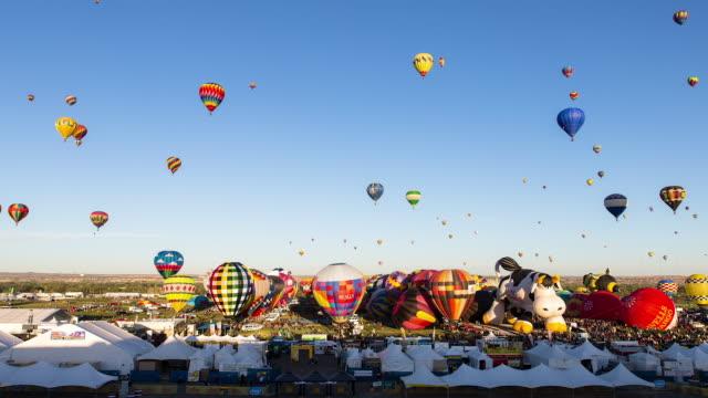Hot Air Balloons Taking Off at Albuquerque Balloon Fiesta