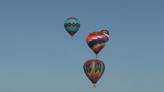 hot air balloons - five objects stock videos & royalty-free footage