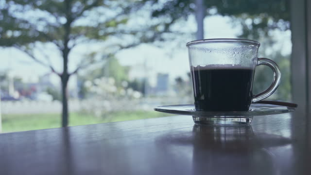 hot black coffee drink - coffee drink stock videos and b-roll footage