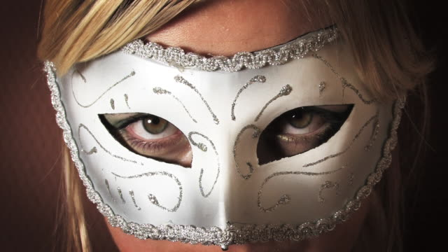 hot blond girl in mask hd - mask disguise stock videos & royalty-free footage