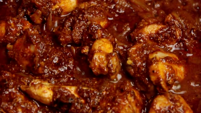 hot chicken curry - indian food stock videos & royalty-free footage