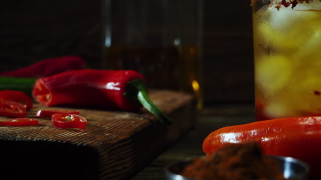 hot chili pepper drink - peperone video stock e b–roll