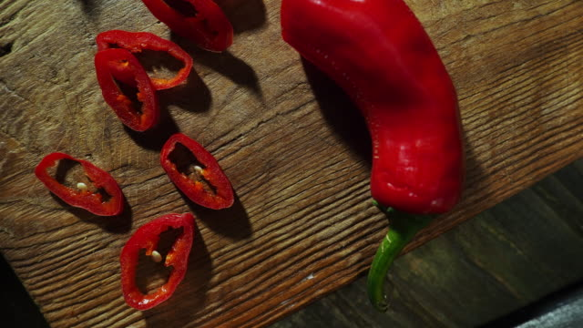 hot chili pepper drink - cutting board stock videos and b-roll footage