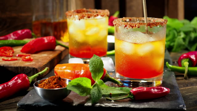 hot chili pepper drink - stirring stock videos & royalty-free footage