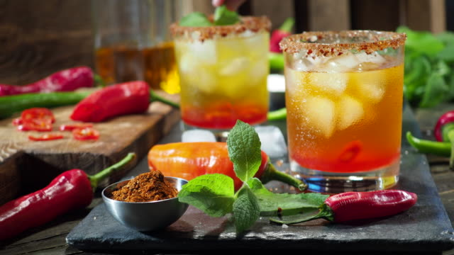 hot chili pepper drink - caribbean stock videos & royalty-free footage