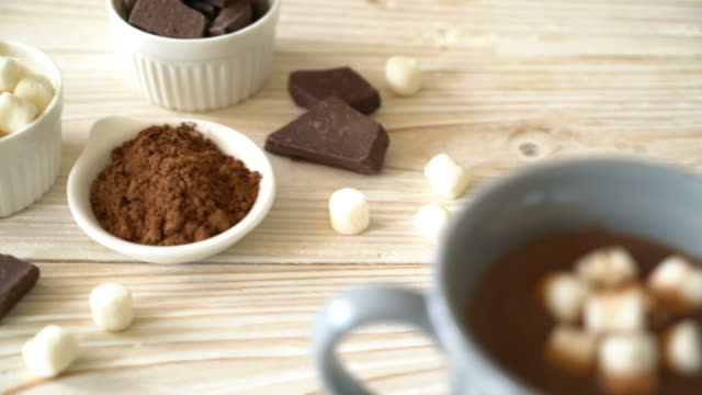 hot chocolate with marshmallows - heat stock videos & royalty-free footage