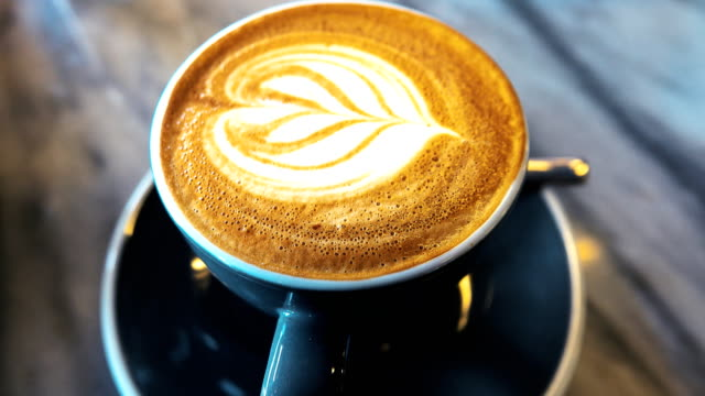 4k: hot coffee art relax time - coffee cup stock videos & royalty-free footage