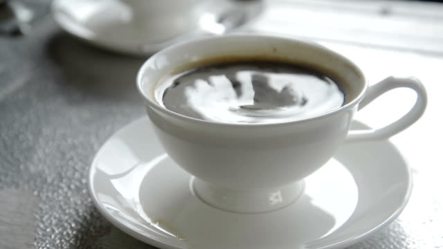 hot coffee in white mug