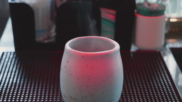 slo mo; hot coffee smoke in the relax time. - breakfast room stock videos & royalty-free footage