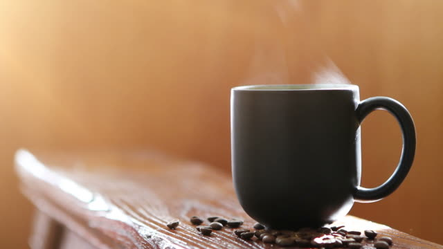 hot cup of coffee - steam stock videos & royalty-free footage