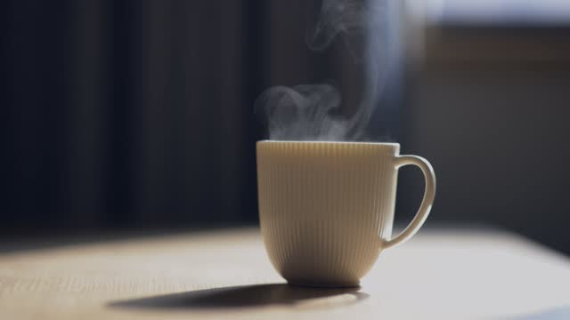 hot cup of tea or coffee - mug stock videos & royalty-free footage