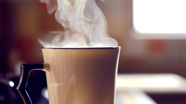 hot drink steaming - mug stock videos & royalty-free footage