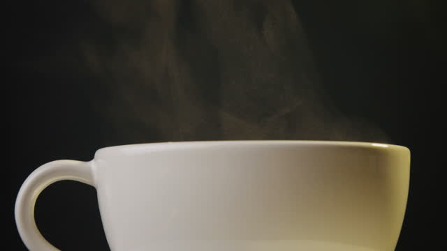 hot drink with copy space - steam stock videos & royalty-free footage