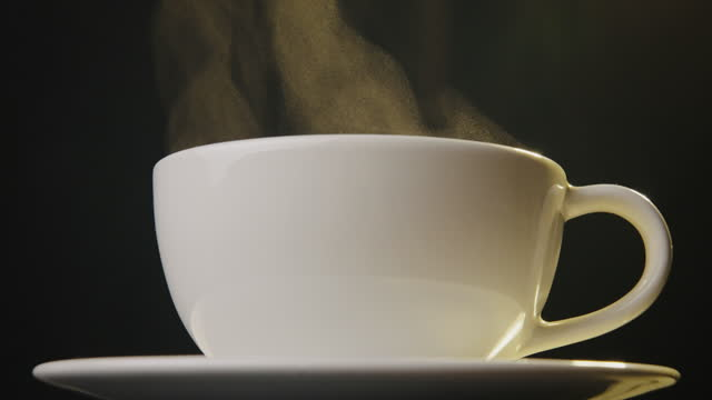 hot drink with copy space - mug stock videos & royalty-free footage