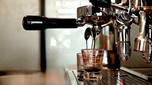 hot espresso coffee, coffee machine