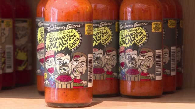 hot sauce has become something of a cult amongst american foodies in recent years - foodie stock videos and b-roll footage