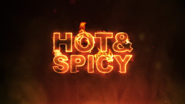 Hot & Spicy Text on Fire