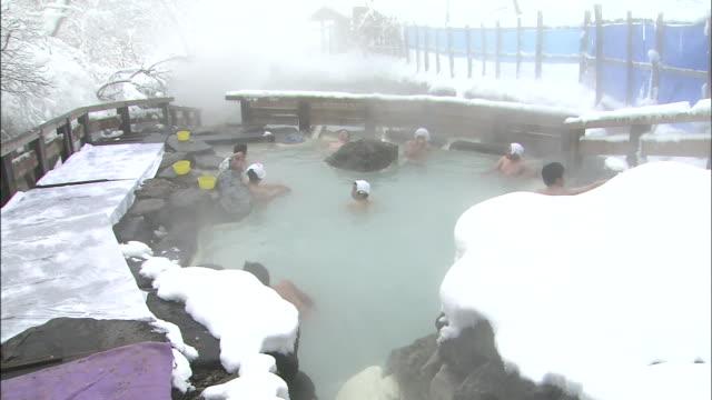 Hot spring amid snow