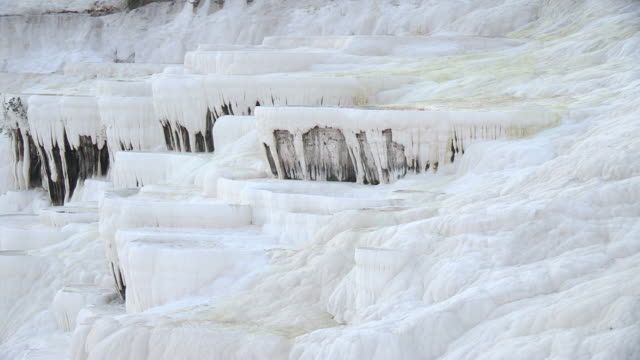 hot spring deposits, pamukkale, turkey - panning stock videos & royalty-free footage