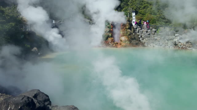 hot spring in beppu - thermal pool stock videos & royalty-free footage