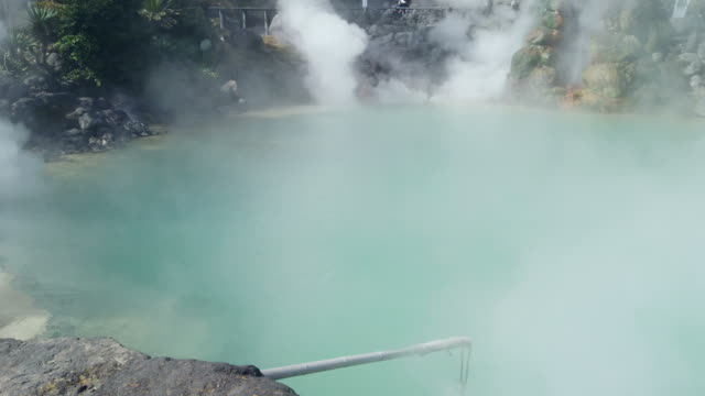 hot spring in beppu - hot spring stock videos & royalty-free footage
