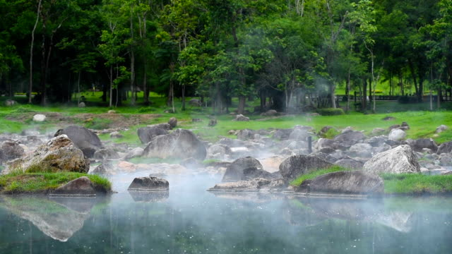 Hot Spring in Chaeson Nation Park, lampang province,Thailand