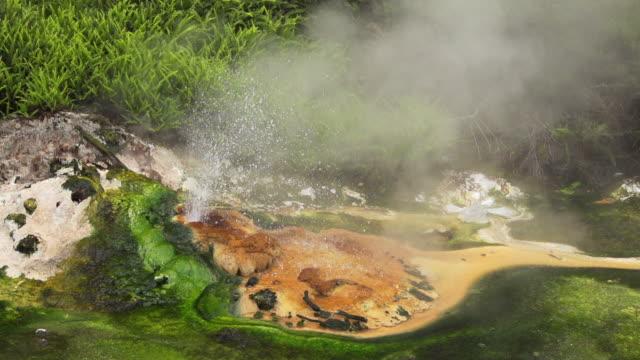 zeitlupe: hot spring - schwefelquellen stock-videos und b-roll-filmmaterial