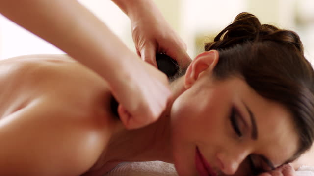 hot stone therapy - lastone therapy stock videos & royalty-free footage
