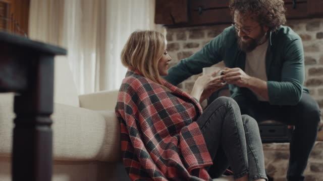 hot tea is good for flu! - flooring stock videos & royalty-free footage